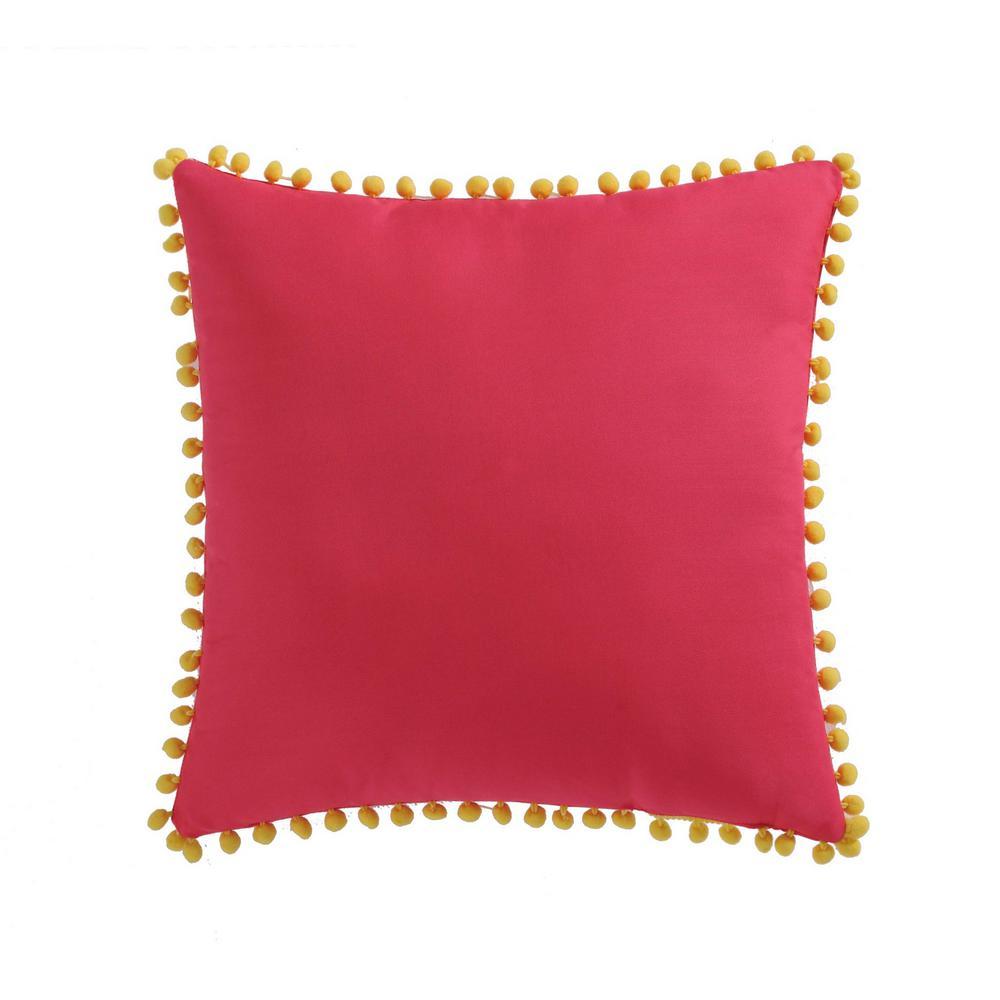 Kids Fruity Pom Pom Pillow