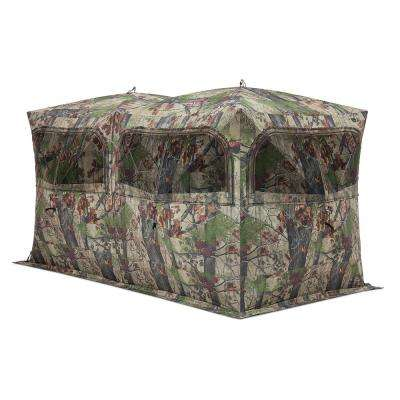quick unlimited blind ground blinds set product x camo polyester