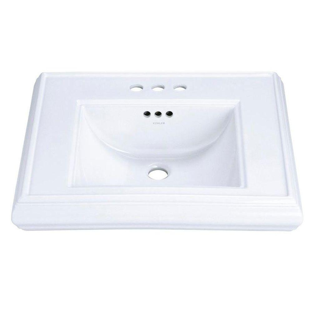 KOHLER Memoirs 5-3/8 in. Ceramic Pedestal Sink Basin Only in White with Overflow Drain