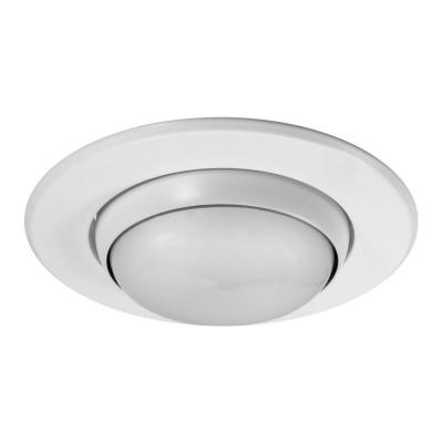 NICOR 5 in. White Recessed Eyeball Trim