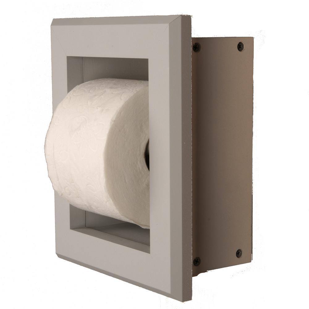 Newton Recessed Toilet Paper Holder 7 Holder In Primed