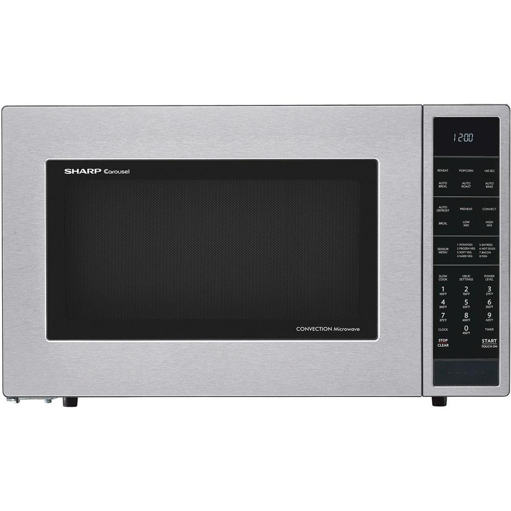 Sharp 1 5 Cu Ft Countertop Convection Microwave In Stainless Steel Built