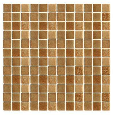 Spongez S-Brown-1410 Mosaic Recycled Glass 12 in. x 12 in. Mesh Mounted Floor & Wall Tile (5 sq. ft. / case)