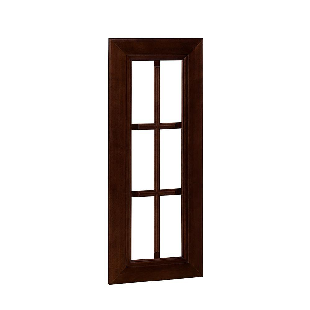 Home Decorators Collection Roxbury Assembled 18x30x0.75 in. Mullion Door in Manganite