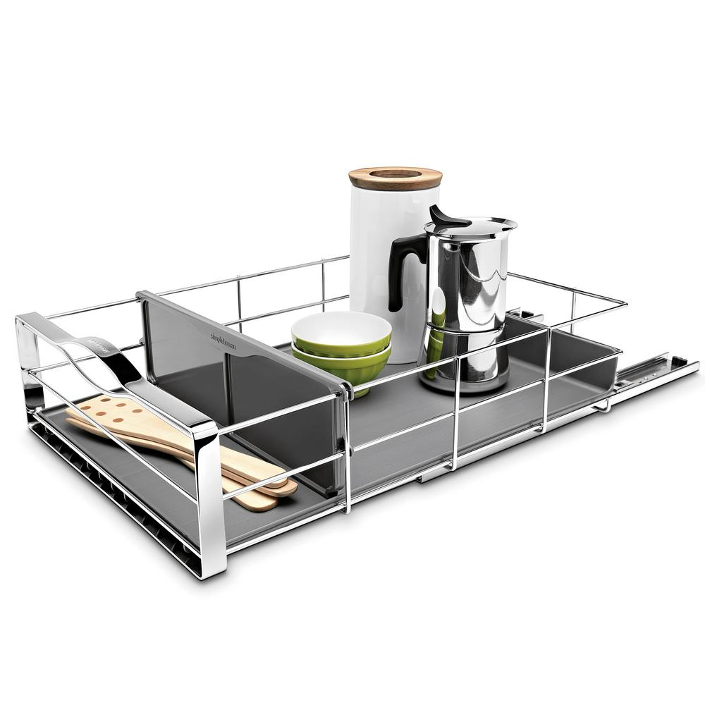 Simplehuman 14 In. Pull-Out Cabinet Organizer In Polished