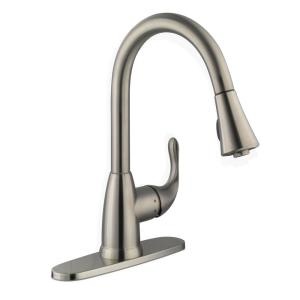 Glacier Bay Market Single-Handle Pull-Down Sprayer Kitchen Faucet in Stainless Steel by Glacier Bay