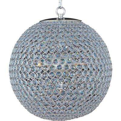 Glimmer 5-Light Plated Silver Single-Tier Chandelier