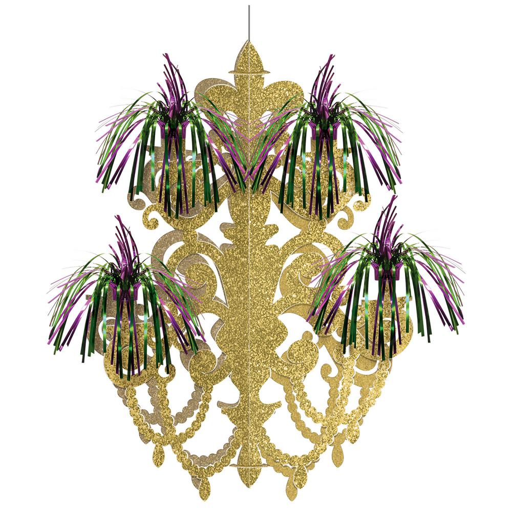 Amscan 20.5 in. Mardi Gras Green, Purple and Gold Foil Firework ...