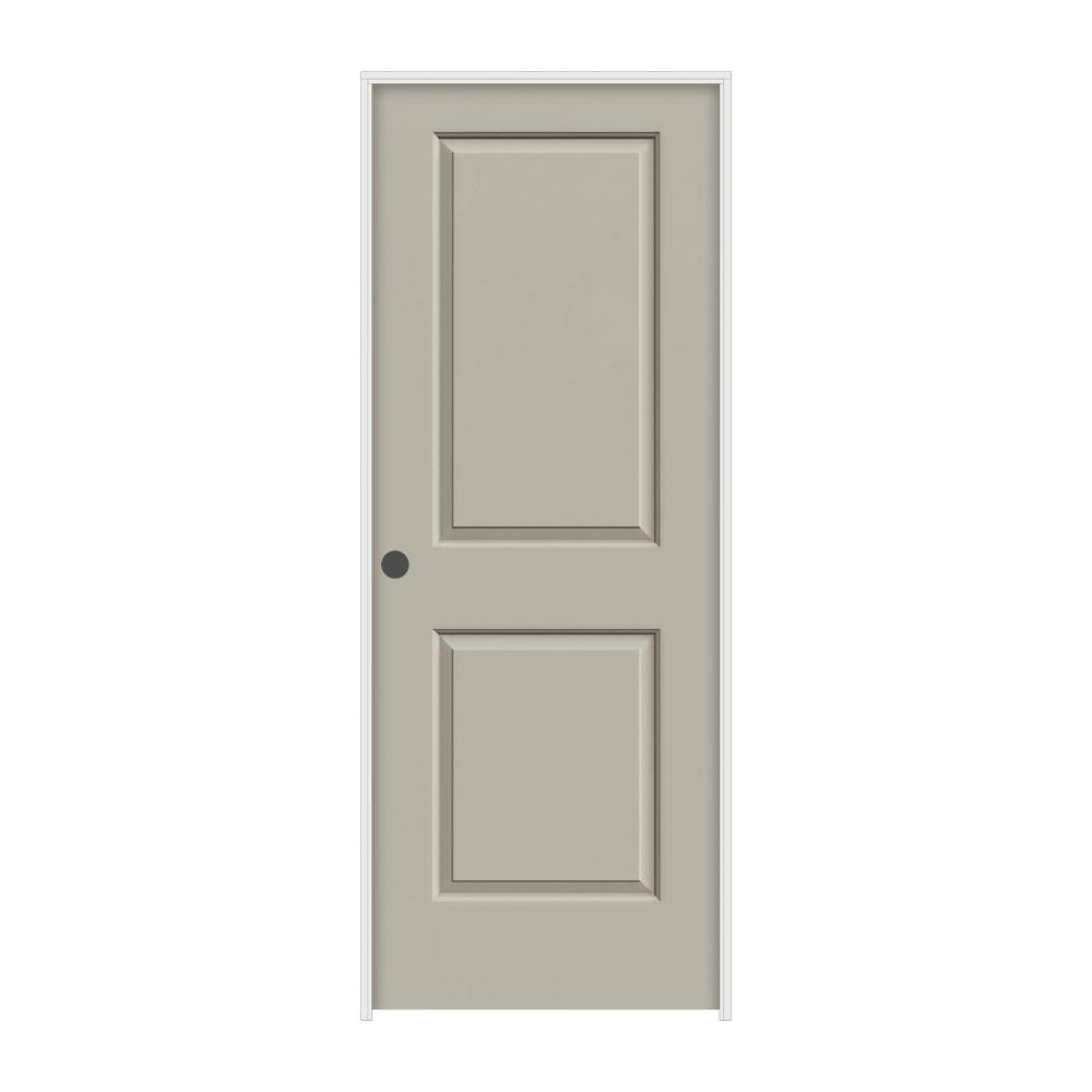 JELD-WEN 30 in. x 80 in. Cambridge Desert Sand Painted Right-Hand Smooth Molded Composite MDF Single Prehung Interior Door
