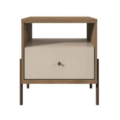 Joy 1-Drawer Off White Nightstand