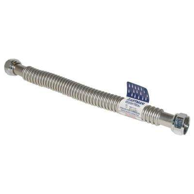3/4 in. FIP x 3/4 in. FIP x 24 in. Stainless Steel Corrugated Water Heater Connector