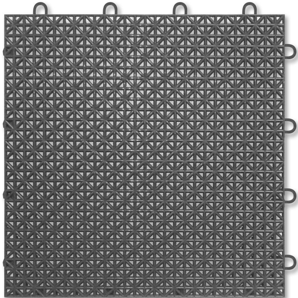 TopDeck 1 ft. x 1 ft. Polypropylene Deck Tile in Granite (40 - Case)