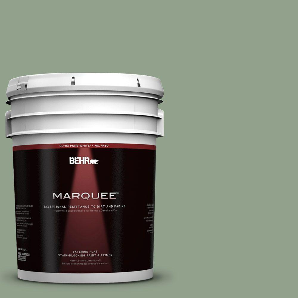 BEHR MARQUEE 5-gal. #440F-4 Athenian Green Flat Exterior Paint