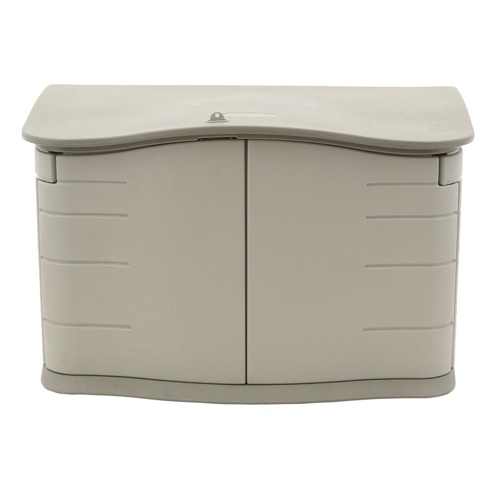 Rubbermaid 2 ft. 3 in. x 4 ft. 6 in. Horizontal Resin Sto...