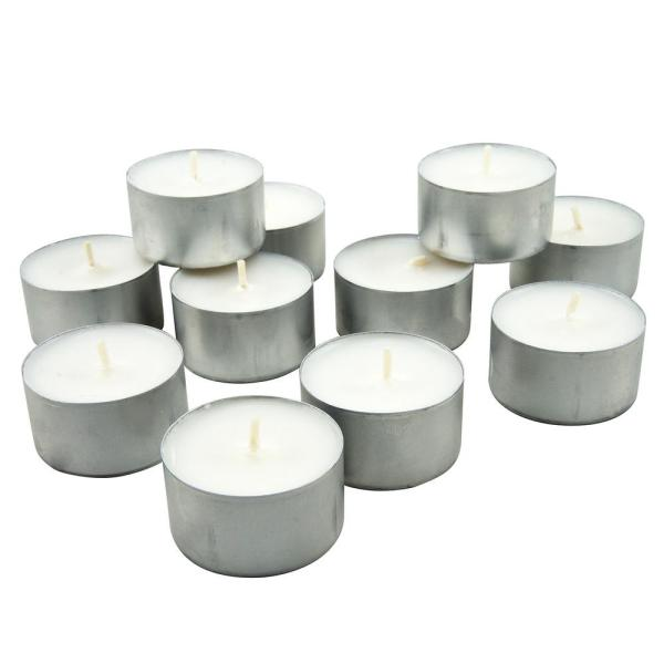 Stonebriar Collection White Unscented Long Burning Tealight Candles - 8 Hours