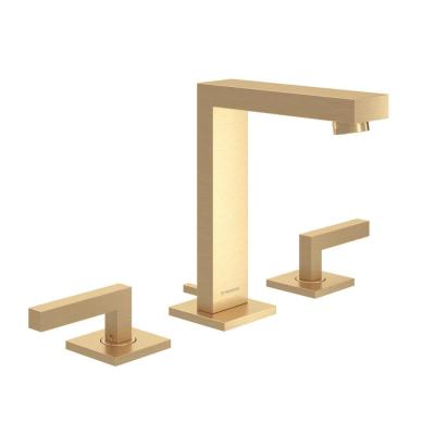 Duro 8 in. Widespread 2-Handle Bathroom Faucet with Drain Assembly in Brushed Gold