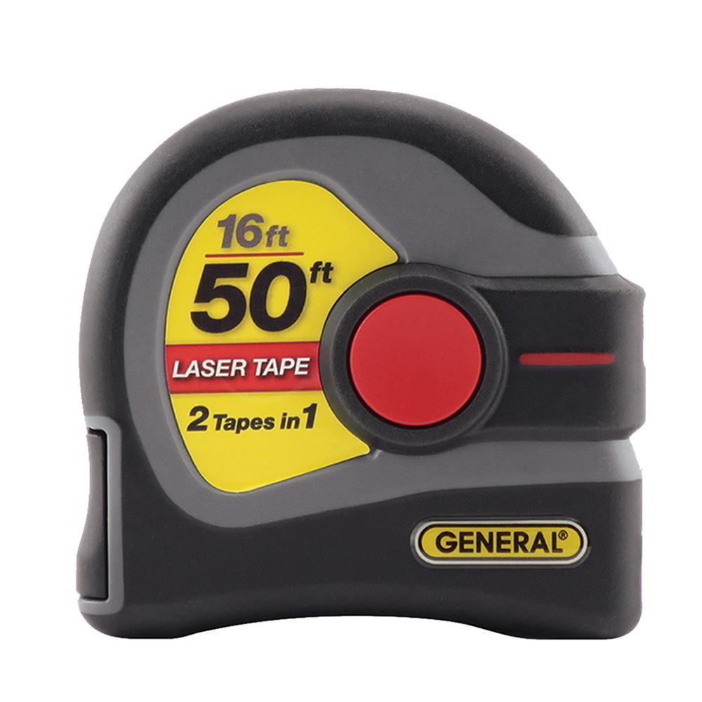 General Tools 2-in-1 Laser 16 ft. Tape Measure and 50 ft. Laser Distance Measurer