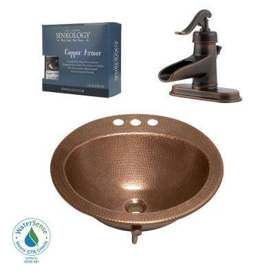 Pfister All-In-One Copper Bathroom Sink Bell Design Kit with Ashfield Rustic Bronze 4 in. Centerset Faucet