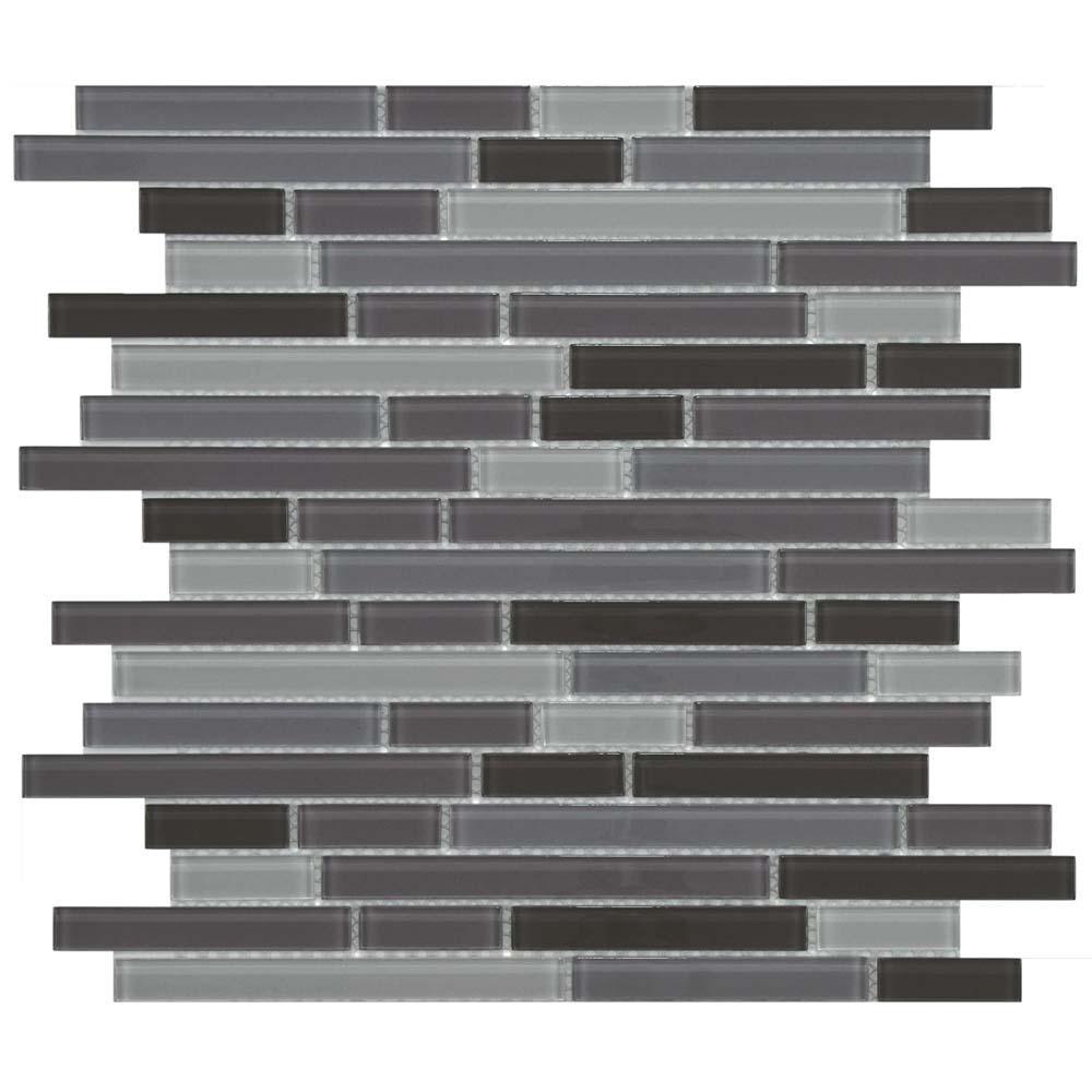 Merola Tile Spectrum Piano Regalia 11-3/4 in. x 11-3/4 in. x 4 mm Glass Mosaic Tile