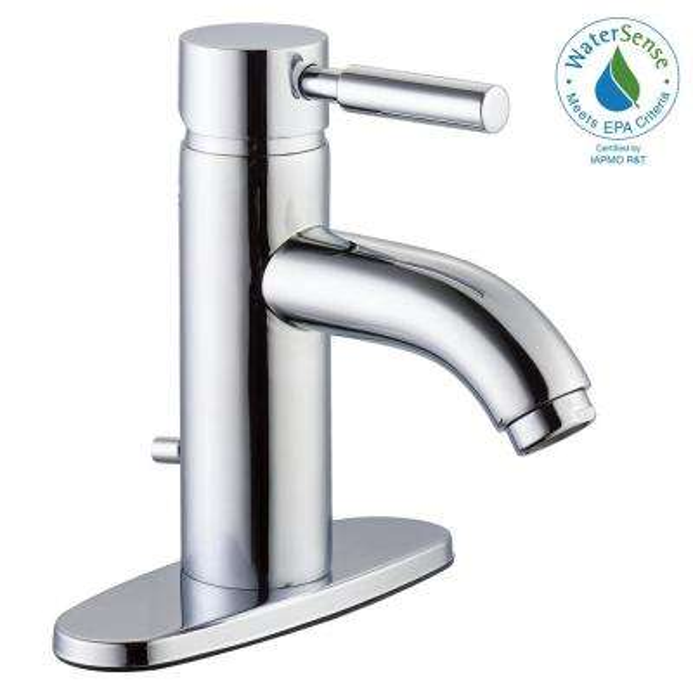 Euro 4 in. Centerset Single-Handle High-Arc Bathroom Faucet in Chrome