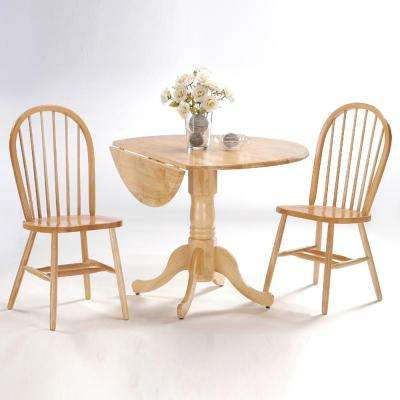 natural wood spindle back windsor dining chair