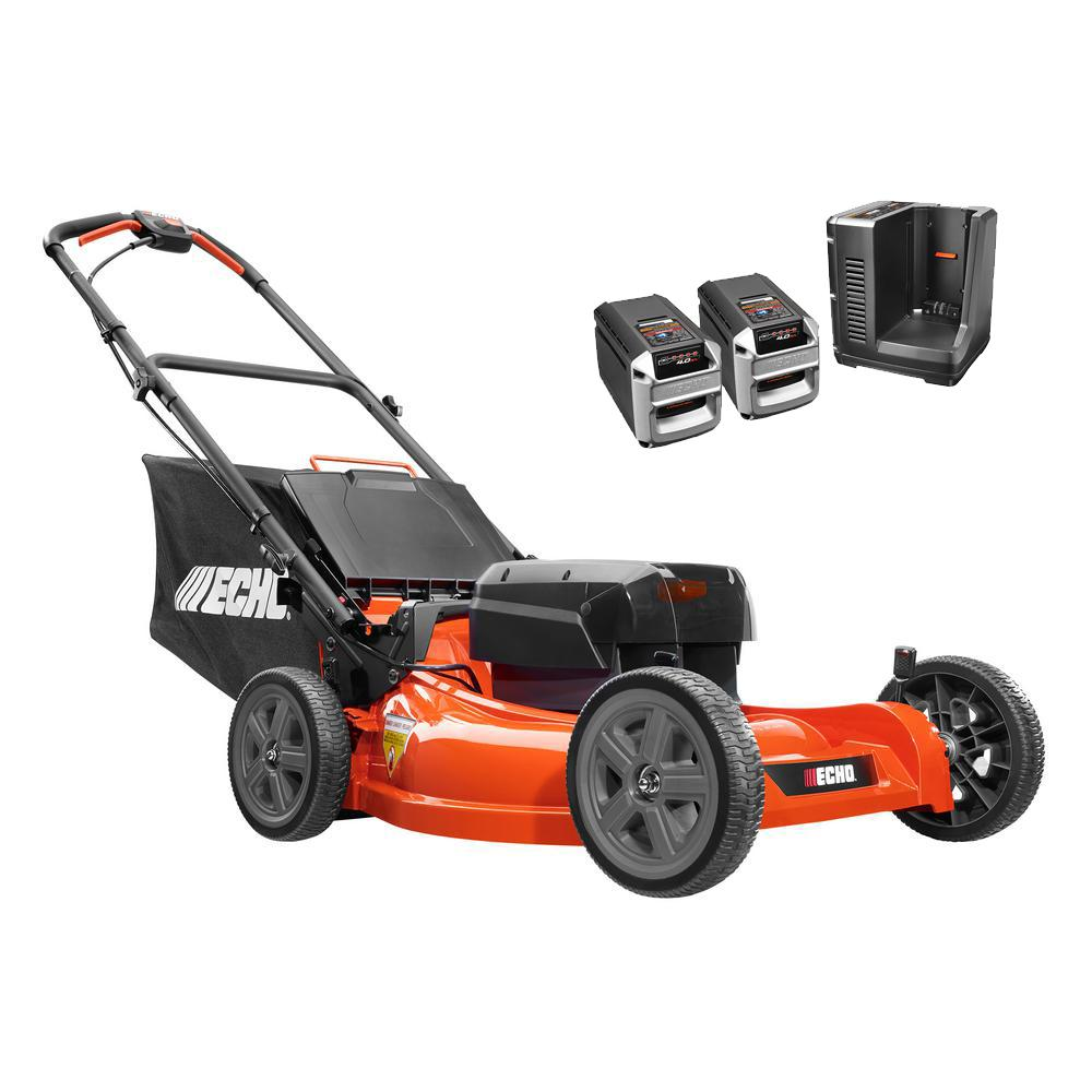 21 in. 58-Volt Brushless Lithium-Ion Battery Walk Behind Push Lawn Mower