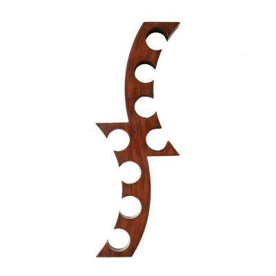 Calabria 12-1/2 in. W Wall Mount Wine Rack in Rust