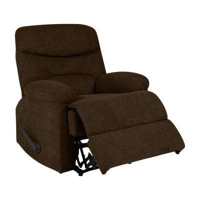 Chocolate Brown Chenille Wall Hugger Recliner