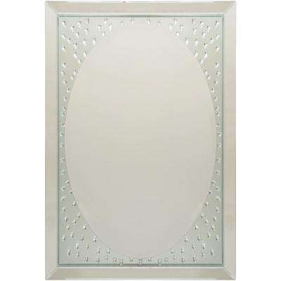 Fidan 29.65 in. x 42.24 in. Glam Framed Mirror