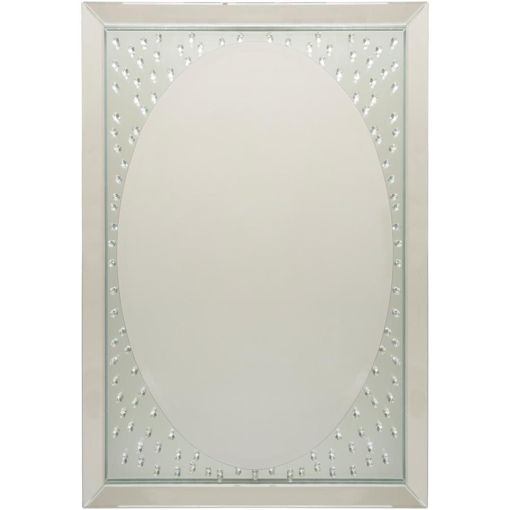 Fidan 29.65 in. x 42.24 in. Glam Framed Mirror