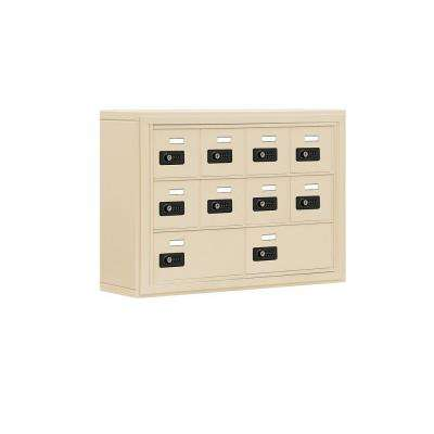 19000 Series 30.5 in. x 20 in. x 6.25 in. Aluminum 8 A / 2 B Doors S-Mounted Resettable Locks Cell Phone Locker in Sand