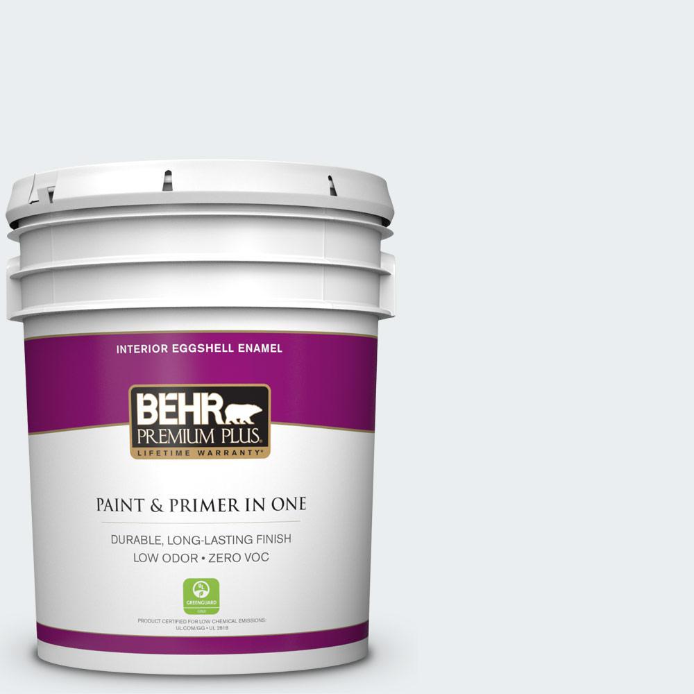 BEHR Premium Plus 5-gal. #PWN-16 Day Spa Zero VOC Eggshell Enamel Interior Paint
