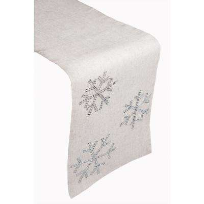 Snowflake 100% Polyester Table Runner