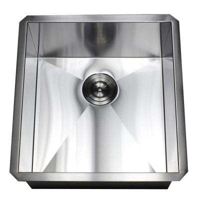 Undermount Stainless Stee 19 in. x 20 in. x 10 in. Deep l Prep / Bar / Island Single Bowl Zero Radius Kitchen Sink