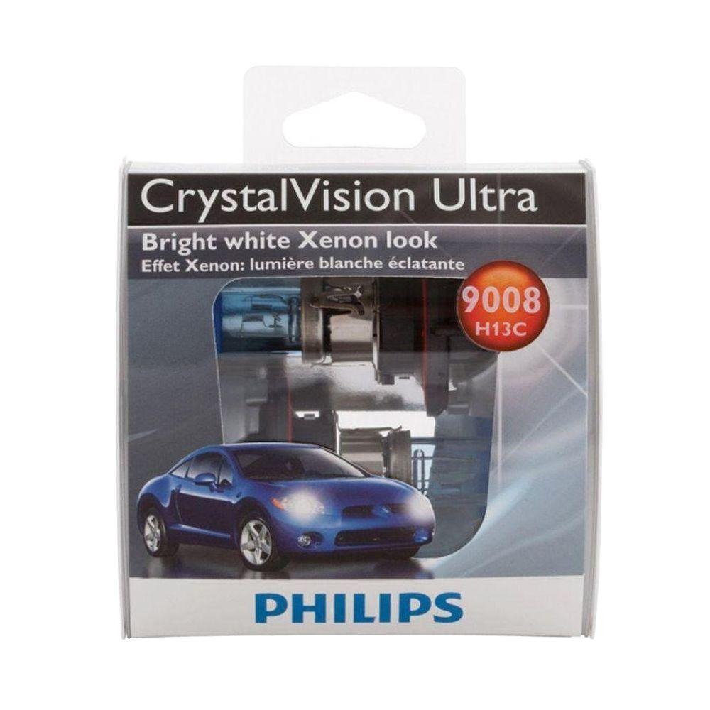 Philips CrystalVision Ultra 9008/H13 Headlight Bulb (2-Pack)