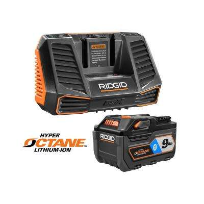 18-Volt OCTANE 9.0 Ah Lithium-Ion Battery Starter Kit with Charger