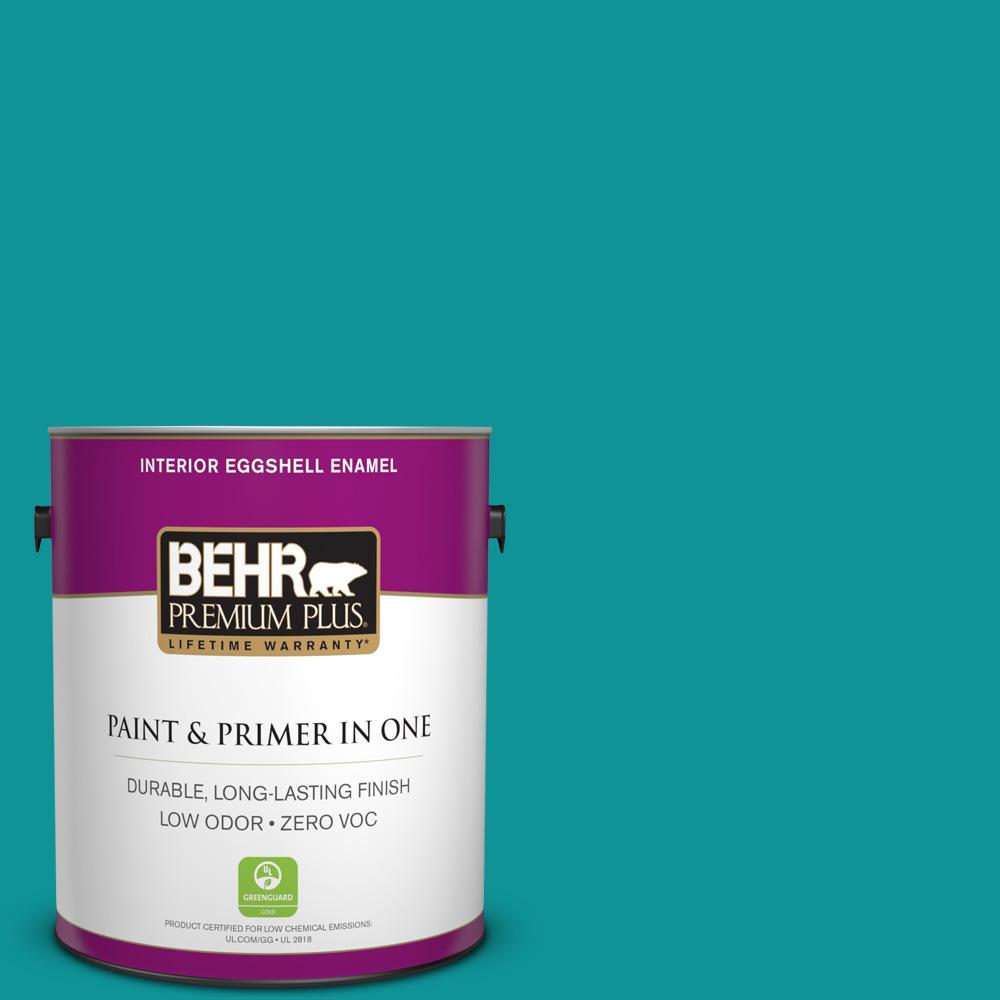 BEHR Premium Plus 1-gal. #P460-6 Paradise Landscape Eggshell Enamel Interior Paint