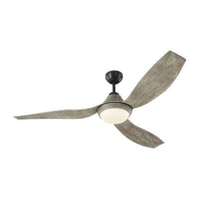 Avvo 56 in. LED Indoor/Outdoor Aged Pewter Ceiling Fan