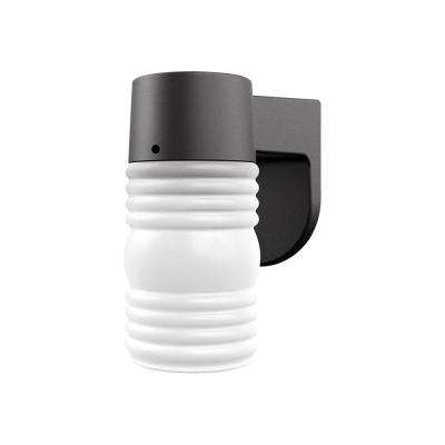 1-Light Matte Black Outdoor Wall Lantern Sconce