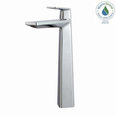 Aplos Single Hole Single-Handle High-Arc Vessel Bathroom Faucet in Chrome