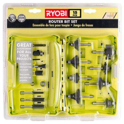 Router Bit Set (15-Piece)