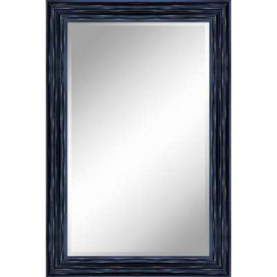 24 in. x 36 in. Antique Black Mirror in 1 in. Bevel with 3.5 in. Frame