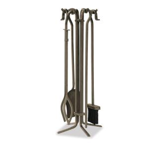 UniFlame Bronze 5-Piece Fireplace Tool Set with Crook Handles by UniFlame