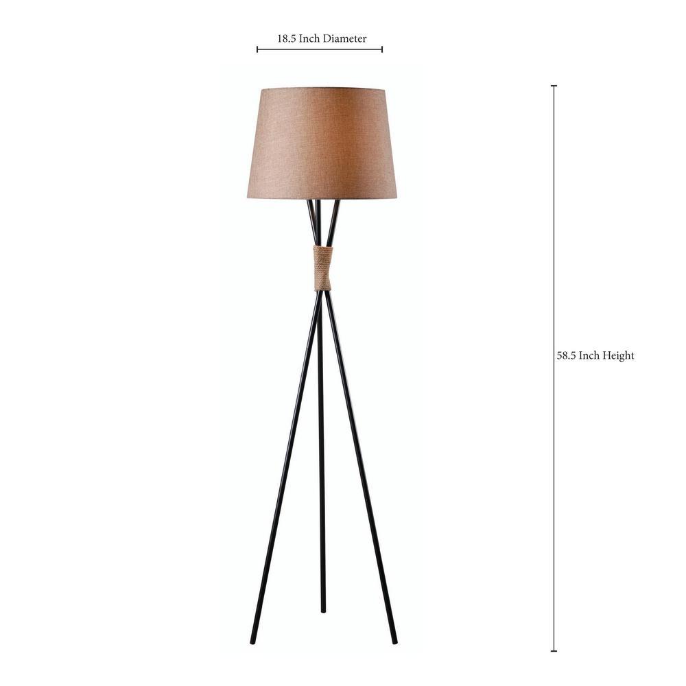 Trio 59 In Bronze Floor Lamp