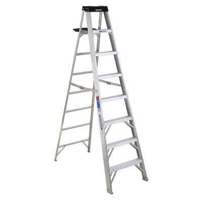 8 ft. Aluminum Step Ladder with 300 lb. Load Capacity Type IA