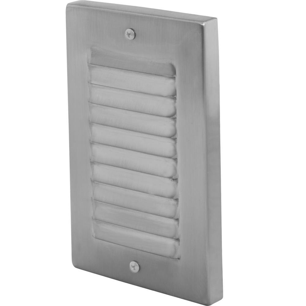 1 Light Nickel Vertical Led Deck Step