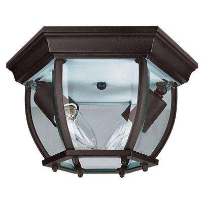 Sellars 2-Light Oil Rubbed Bronze Outdoor Flush Mount
