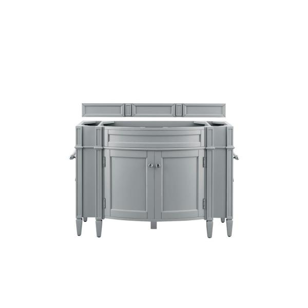 Brittany 46 in. W x 33 in. H Single Bath Vanity Cabinet Only in Urban Gray with Satin Nickel Hardware
