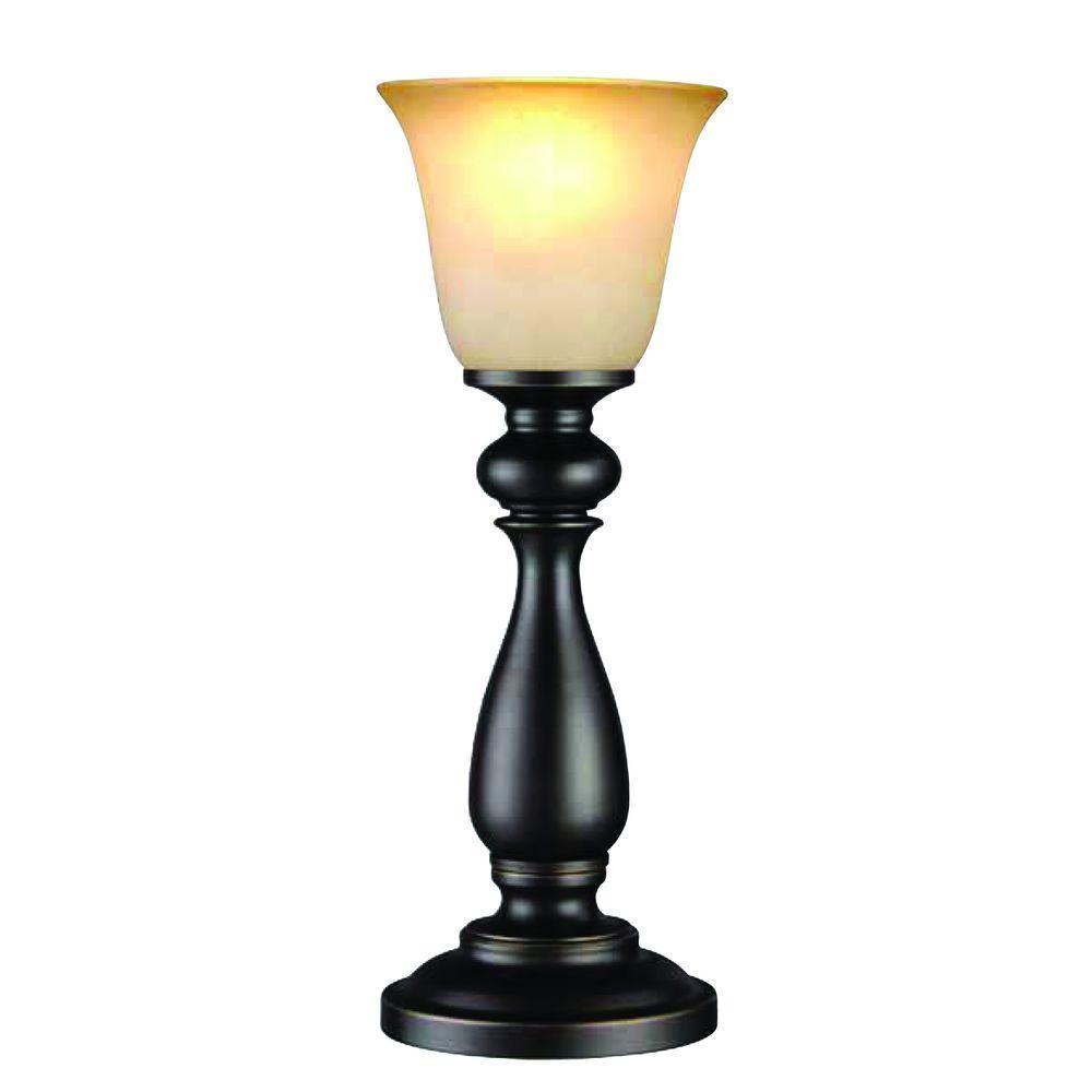 Hampton Bay 16 in. Oil-Rubbed Bronze Uplight Buffet Lamp