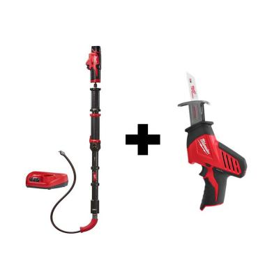 M12 Trap Snake 12-Volt Lithium-Ion Cordless 6 ft. Toilet Auger Drain Cleaning Kit with Free M12 HACKZALL Saw